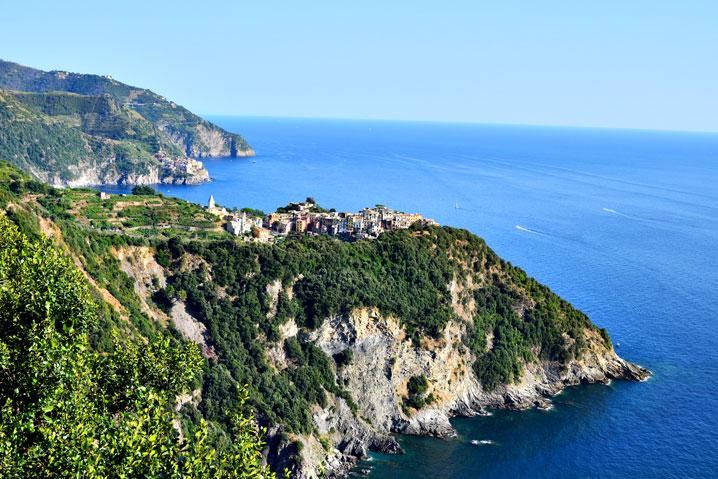 Visuale panoramica di Corniglia